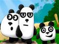3 Pandas - Ajude os três pandas a escapar do pirata. Clique sobre o cenário para ocorrer uma ação, ande por todo o navio, tenha cuidado para não ser visto e use as habilidades de cada personagem para concluir a fase.