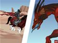 Tente derrotar este enorme dragão montado em seu cavalo e ao mesmo tempo desvie de todos os obstáculos que cruzam o seu caminho. Lembre-se de mirar na boca do dragão sempre que puder!