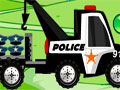 911 Police Truck - Pilote um caminh�o da pol�cia e transporte todos os tipos de carga. Conduza seu truck com todo cuidado para n�o tombar ou perder mercadoria pelo caminho.
