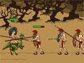 Jogo - Age of War 2, Faça o ataque contra a base do inimigo e conquiste novos territórios com o recrutamento de soldados guerreiros. Seja estratégico e elabora seu ataque indefensável. Lembre-se que sua vida esta em risco e você precisa defender sua base contra todos que aparecer em seu caminho.
