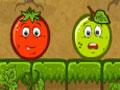 Aggro - Ajude os vegetais se livrar das frutas que est�o tentando tomar seu territ�rio. Mire e se lance para acertar o alvo, se movimente com menor n�mero de tentativas poss�veis pelo cen�rio.