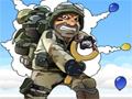 Em Airborne você é um soldado que recebeu a missão de estourar todos os balões para conseguir mais energia e sobreviver no meio desta guerra, seja rápido e não deixe os balões passarem sobre você inteiro.
