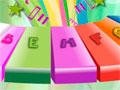 Alphabets Xylophone - Toque nas letras para o som surgir. Siga corretamente as inciais na parte de baixo da tela para se tocar no xilofone a música por inteiro.