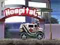 Jogo Ambulance Rush, seu objetivo é conduzir a ambulância em toda velocidade, passe por cima de todos os obstáculos que estiver em seu caminho, atropele os pacientes que fugiram do hospital, marque muitos pontos e divirta-se!