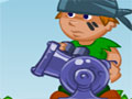 Apple Cannon - Com seu canhão mire e atire as maçãs nos baldes. Calcule a força e o ângulo para acertar o alvo, evitando os obstaculos em cada estágio.