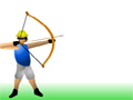 Mire e atire com seu arco e flecha, seu objetivo é acertar a maçar que esta na cabeça do seu amigo, mais tome muito cuidado para não acerta-lo.
