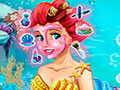 Ariel Real Makeover - Cuide da beleza da sereia Ariel. Rejuvenes�a a pele usando os produtos adequados, escolha o mais lindo penteado que j� existiu no reino do mar e n�o esque�a de nenhum acess�rio.