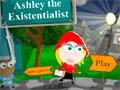 Ashley The Existentialist -  Ashley precisa de sua ajuda para solucionar os quebra-cabeças. Clique sobre os objetos para ocorrer uma ação e depois reutilize para conseguir escapar sem chamar atenção do guarda.