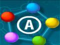Atomic Puzzle 2 - Ligue os átomos de cores idênticas para eliminar da tela. Observe bem para encontrar a melhor maneira de retirar eles de cada estágio.