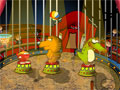 Seja um grande domador de feras neste circo, faça com que os animais consiga jogar basquete.