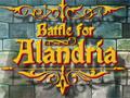 Battle For Alandria, Você tem que preparar uma estratégia para derrotar seus inimigos, formando um exercito para proteger a cidade Alandria. Tomando cuidado com os soldados que passar pela barreira. Para escolher seus guerreiros vá no menu clique e arraste e para começar a guerra clique no Start Wave.