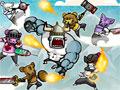 Bear Barians - Os inimigos estão tentando tomar a sua aldeia. Sua tarefa é saltar sobre as plataformas e encarar as ameaças pelo caminho, tenha muita agilidade e habilidade para concluir cada estágio desse jogo.