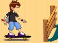 Ben 10 Jumping - Se aventure com o Ben nas pistas. Faça manobras com seu skate saltando sobre os obstáculos, mostre toda a sua habilidade e detone nesse esporte com o Ben 10.