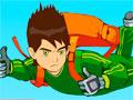 Ben 10 Parashooter - Mostre sua habilidade e acabe com os inimigos do Ben 10. Desça de paraquedas em um área repleta de obstáculos, seja ágil para atirar em qualquer ameaça visível.