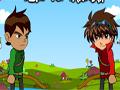 Ben 10 vs Bakugan, Um duelo incrível entre Ben 10 e Bakugan. Você tem que escolher com qual personagem você deseja representar, para fazer um duelo de arco e flecha tendo que destruir seu adversário o mais rápido possivel. Seja ágil e tenha tiros precisos. Cada nível a distância fica maior e mais difícil de acerta o alvo.