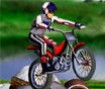Com sua moto enfrente diversos obstáculos, rochas e rampas!