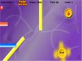 O Objetivo do jogo é conduzir a bola vermelha até a saída (Exit), sem tocar em nada.