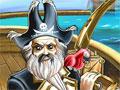 Jogo CCC Pirates, Você é mais velho e respeitado pirata dos grandes mares, sua missão é jogar os tesouros no mar, com poucas bolas de canhão, você deve apenas atingir os baús com riquezas e jamais poluir o rio com os produtos tóxicos.