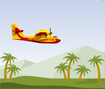Apague diversos incêndios espalhados pela mata, mas você precisa abastecer o avião com água do mar e depois jogar em cima do fogo.