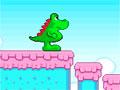 Candyno 3 - Ajude o dinossauro completar o seu desafio. Suba nas plataformas saltando os obstáculos, recolha as chaves em cada estágio para soltar sua amada da jaula.