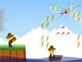 Em Carrot Rescue seu objetivo é estourar todos os balões para conseguir recolher as cenouras que esta dentro deles, faça o calculo exato para acertar todos e que consiga cair no Barco, somente assim você vai passar para o próximo nível.