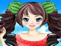 Entre no clima das Frutas, vista uma linda garota com roupas e acessórios feitos de fruta. Seja criativa nas suas escolhas e deixe a personagem do game bem bonita. Aproveite para imprimir as combinações feitas por você.