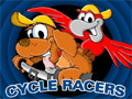 Seus dois amigos te desafiaram para uma corrida de bike.