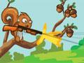 Defender Your Nuts - Ajude o esquilo a proteger suas nozes. Ele juntou alimentos para todo o inverno e agora os monstros est�o tentando pegar, mire e atire com as armas dispon�veis em cada fase para exterminar cada um deles.