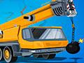 Demolition Crane Parking - Manobre o guindaste até o local indicado. Mostre toda a sua habilidade, conduza com cuidado o caminhão carregando a bomba até a área sem danificar o cenário.