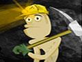 Diggin Gold - Lance as pepitas de ouro até o seu amigo. Calcule a força necessária para alcançar o alvo, tente não desperdiçar suas tentativas para completar cada estágio.