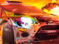 Dirt Showdown - Escolha um veículo para a corrida. Sua tarefa nessa jogada é destruir os carros dos oponentes e fazer drift nas curvas, seja habilidoso para concluir todos os estágio.