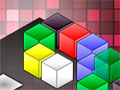 Disco Cubes - Movimente os cubos coloridos da tela. Selecione uma das peças para acoplar com as outras da mesma cor, fique atento com as instruções que aparece no canto inferior da tela.