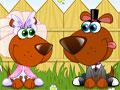 Jogo Dog Wedding, O casal de cachorrinhos resolveram se casar, seu objetivo é deixar eles bem elegantes para sua cerimonia matrimonial.