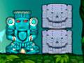 Dragon Bomb - Solucione o quebra-cabeça para detonar todas as estátuas. Clique sobre os blocos para que eles se movimentem e solte a bomba, detone quando elas estiver próximo das estátuetas.