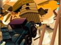 Dynamite Blast 2 - Escolha pontos em uma das áreas das pontas para colocar os explosivos. Com as dinamites posicione nas colunas de sustentação espere os carros passar e aperte o dispositivo para detonar tudo, fique atento pois são limitadas o TNT.
