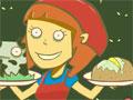 Jogo - Feed Mee!, Seu novo empreendimento é um restaurante que serve comida para os Zumbis. Deixe todos os seus clientes satisfeitos, atenda todos os pedidos o mais rápido possivel e obtenha muito dinheiro para melhorar seu negocio.