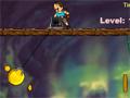 Capture o máximo de dinheiro dentro de uma mina cheia de Ouro. Use a seta de direção para baixo para lançar o gancho.