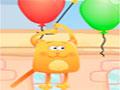 Fly Meow - Tente alcançar a maior distância possível. Ajude o gato a saltar sobre os balões e recolher os peixes para ganhar dinheiro e depois fazer um upgrade.