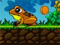 Frog Dares - Ajude o sapo a recolher todas as moedas que encontrar. Salte sobre as plataformas tomando cuidado com os obstáculos, quando aparecer os inimigos ataque eles.