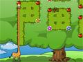 Ajude a girafa percorrer todo o caminho atras de maças, tome muito cuidado com os obstáculos, seu objetivo é chegar até a saída.