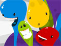 Jogo - Gluey, Eliminie as cores clicando sobre as manchas de tintas que estão espalhadas pelo labirinto do cenário, Resolva todos os puzzles neste game muito viciante, acumule pontos e divirta-se!