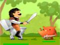 Loo Hero - Controle o guerreiro por toda a floresta. Lute contra os seus inimigos, recolhendo os objetos e moedas para depois você fazer um upgrade e ficar mas forte para lutar contra todos.