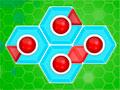 Hexagonator - Troque a posição das peças no cenário. Ligue os pontos vermelhos entre si, pense muito bem antes de qualquer ação para ganhar todas as estrelas em cada estágio