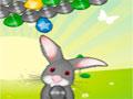 Hop And Pop - Ajude o coelho na competi��o de lan�ar ovos. Seu objeto � jog�-los para eliminar os que s�o da mesma cor, fique atento ao rel�gio para completar toda a fase.