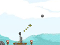 O Objetivo deste jogo é acabar com o castelo inimigo lançando rochas com seu super catapulta.