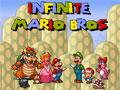 Infinite Mario Bros, mais um jogo com as aventuras do grande clássico dos games, Super Mario!, passe todas os níveis, elimine seus inimigos e divirta-se!