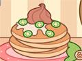 Jollys Pancakes - Prepare deliciosas panquecas. Siga as instruções da menina antes de qualquer ação, decore cada uma colocando as frutas, chocolates e outras guloseimas a mais.