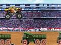 Seu objetivo neste jogo é pular todos os obstáculos com seu super carro Truck, faça o calculo exato para que você não bata nos obstáculos durante o seu percurso.
