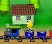 Acumule pontos pulando sobre os carrinhos do trem da cor indicada no jogo