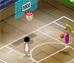 Jogue uma partida de basquete diferente, aqui você pode dar muita porrada no seu adversário para roubar a bola e fazer pontos.